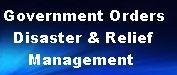 Disaster and Relief Related Government Orders